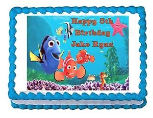 FINDING NEMO party decoration edible cake image cake topper frosting sheet ()