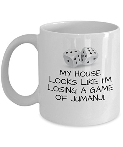 """Price comparison product image FUNNY MOM MUG - Coffee MOM Mug """"My house looks like I'm losing a game of Jumanji."""" - Coffee Tea 11oz Cup. - Get This - It Would Be Their New Favorite"""