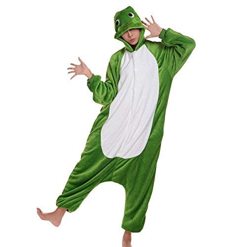 [WSHINE Unisex Adults Pajamas Cosplay Kigurumi Onesie Anime Costume (M, frog)] (Child Frog Costume Pattern)