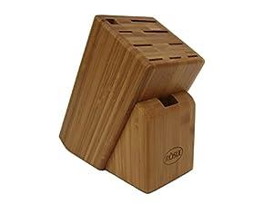 RÖSLE Messerblock Bambus Cuisine , Knife Block Bamboo, Bloc couteaux en bambou