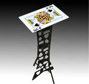 Doowops Alluminum Alloy Magic Mesa Plegable (Negro, Mesa de póquer) Trucos de Magia Mesa Plegable del Mago Etapas Ilusiones Accesorios Prop: Amazon.es: Juguetes y juegos