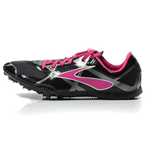 Brooks Women's PR MD 3 Black/Pink Glo/Anthracite Sneaker 7 B (M)