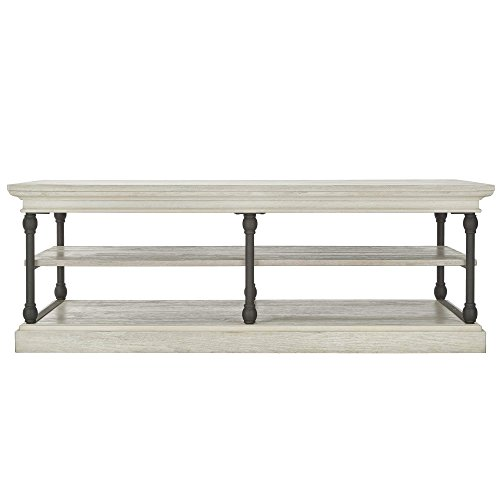 Inspire Q Barnstone Cornice Rectangle Storage Slf Coffee Table by Artisan White Antique