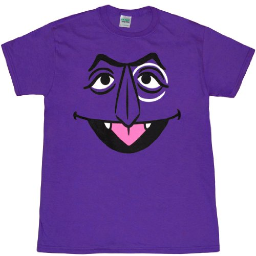Sesame Street The Count Face Adult T-Shirt