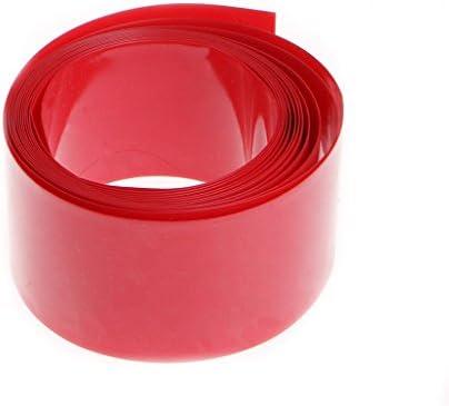 BIlinli 2m PVC-Wärmeschrumpfschlauch-Schlauchpackungs-Kit für 18650 18500 Batterie flach rund 18,5 mm