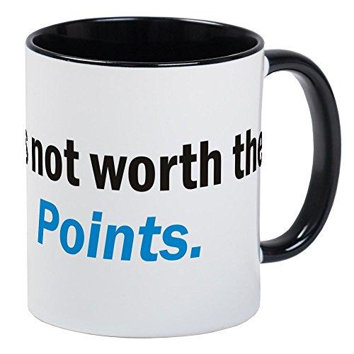 Cafepress   Its Not Worth The Points Coffee Mug Size Mugs   Unique Coffee Mug  Coffee Cup