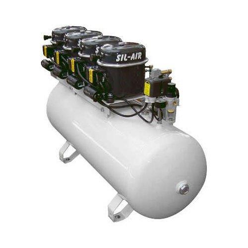 Silentaire Sil-Air 200-100 Silent Running Airbrush Compressor: Oil Lubricated - Silentaire Airbrush Compressor