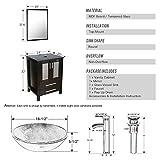 "eclife 24"" Bathroom Vanity and Sink Combo Black"