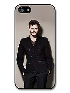 Christian Grey Jamie Dornan Posing Black Coat Case For Ipod Touch 4 Cover