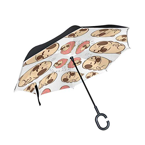 banks jacqueline Bike_113 Double Layer Inverted Umbrella Cars Reverse Umbrella, Windproof UV Protection Big Straight Umbrella for Car Rain Outdoor by banks jacqueline