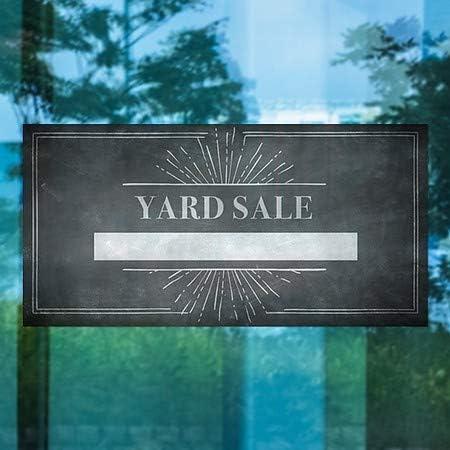 CGSignLab Yard Sale 24x12 Chalk Burst Window Cling 5-Pack