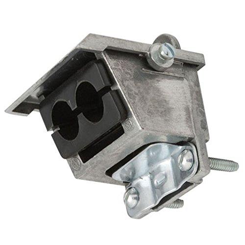 Hubbell-Raco 2440-2 Entrance Head, Clamp-Type, SEU Cable, 3-3/0 thru 4/0 or 1-1/0 thru 2/0, Aluminum