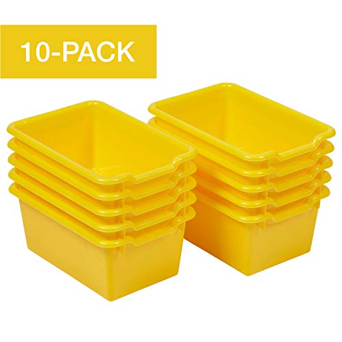 - ECR4Kids Scoop-Front Storage Bins, Easy-to-Grip Design Storage Cubbies, Kid Friendly and Built to Last, Pairs with ECR4Kids Storage Units, 10-Pack, Yellow