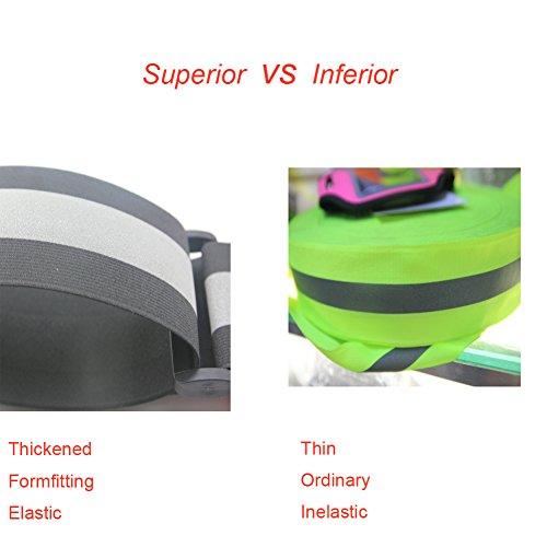 Haute visibilité Gilet réfléchissant Ceinture d exercice avec LED Lumineux  Fibre optique pour la course 6c4679e58d6