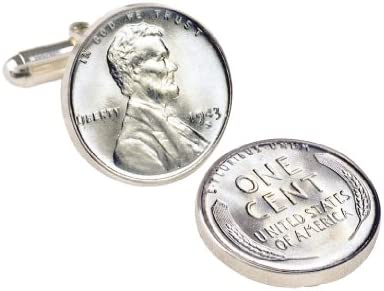 1943 Lincoln Steel Penny Coin Cuff Links  United States Coins  Men Cufflinks  Minted Only One Year