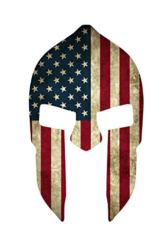 Halo Costumes Authentic (SPARTAN HELMET WITH AMERICAN FLAG 5.5