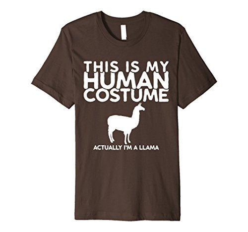 Llama Costume For Two (Mens This is my Human Costume Actually I'm a Llama Shirt Small Brown)