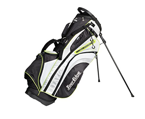 Tour Edge Womens HL3 Stand Bag in Black Silver Lime Green - Edge Stand Bag