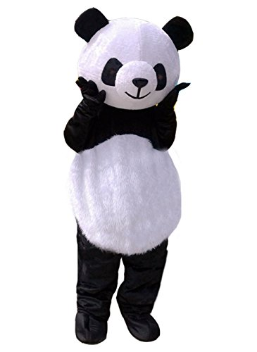 Huiyankej Panda Mascot Costume Panda Costume Adult Halloween Fancy Dress (Small) Black]()