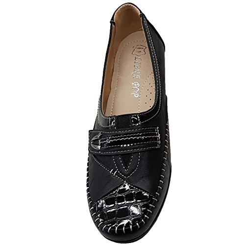 Con Unito Fantasia Zeppe Basse 8 Sottopiede Nero Boutique Imbottito Regno Croc In Vernice Elastico Ecopelle 4ZXnOwHrZ