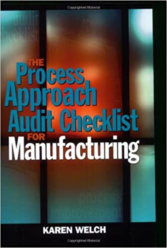 The Process Approach Audit Checklist for Manufacturing