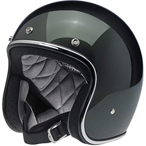 Biltwell Unisex-Adult Open face Bonanza 3/4 Helmet (Sierra Green, X-Large)
