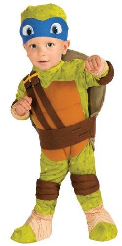 Rubie's Costume Teenage Mutant Ninja Turtles, Leonardo Romper, Shell and Headpiece, Green, Infant