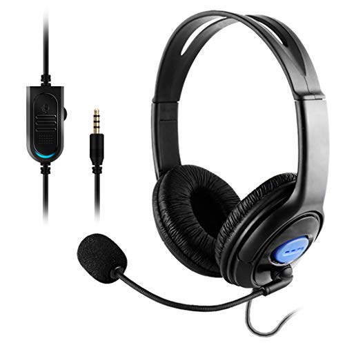 R-RIGHT Earphone for PS4 Stereo Wired Gaming Headset Headphones with Mic for Playstation 4 Gamer