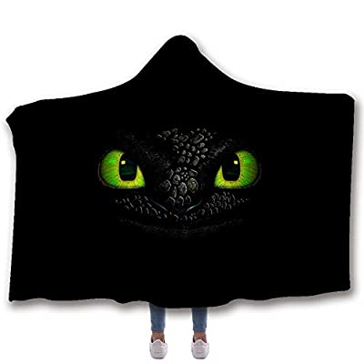 MUMULA How to tr-ain Your Dragon Too-thless Dragon 30 Hooded Throw Blanket Soft Cloak Wearable Hooded Blanket for Adult and Kids: Home & Kitchen