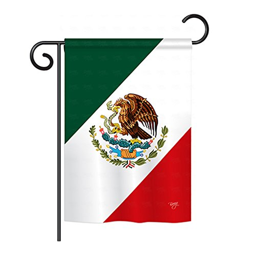 "Breeze Decor G158019 Mexico Flags of The World Nationality Impressions Decorative Vertical Garden Flag 13"" x 18.5"" Printed in USA Multi-Color"
