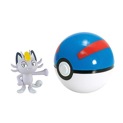 Pokémon Clip And Carry Poké Ball, Alolan Meowth And Great Ball]()