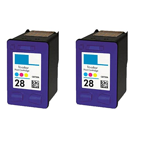 C8728a Colour - N&L Global CO. 2PK HP C8728A (HP 28) Color Compatible Ink Cartridge for HP Deskjet 3320 3322 (Pack of 2)
