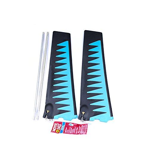 Hobie Mirage ST Turbo Fin Kit Blue/Black Threaded V2