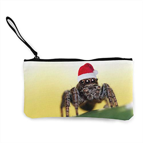 Oomato Canvas Coin Purse Spider Cosmetic Makeup Storage Wallet Clutch Purse Pencil Bag ()