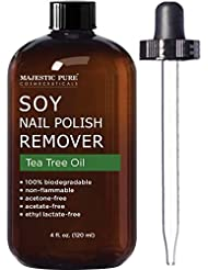 Soy Nail Polish Remover by Majestic Pure - Infused with...