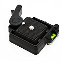 Andoer Compact Quick Release Assembly Platform Clamp + Quick Release Plate for Giottos MH630 Camera Mount MH7002-630 MH5011
