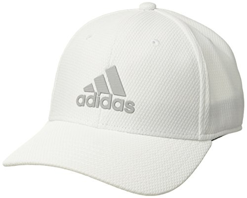 (adidas Men's Enforcer Structured Adjustable Snapback Cap, White, One Size)