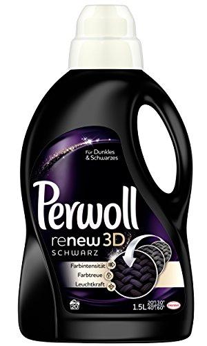 Perwoll Renew 3D, schwarz, Waschmittel, 4er Pack (4 x 20WL)