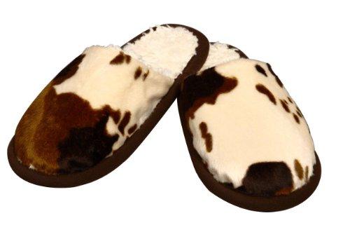 Linke Licardo Pantoffeln in Kuhfelloptik, 1 Paar 44/45