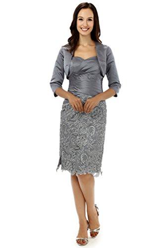 Albrose Grau Cocktail Damen Kleid Albrose Damen wU6p8