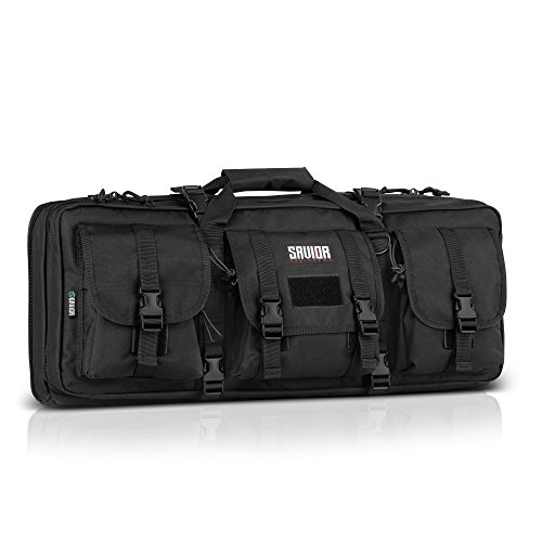 Savior Equipment American Classic Tactical Double Short Barrel Rifle Gun Case Firearm Bag - Suitable for Subgun Bullpups Carbine Shotgun SMG SBR AR AK Pistol, Available Length in 24