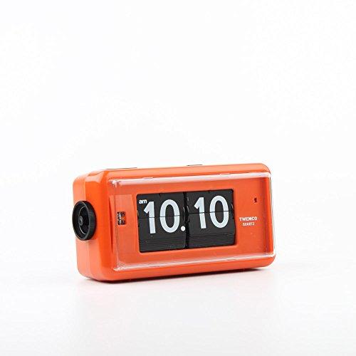 Homeloo Twemco Retro Modern Germany Quartz Alarm Flip Clock Al30 (orange)