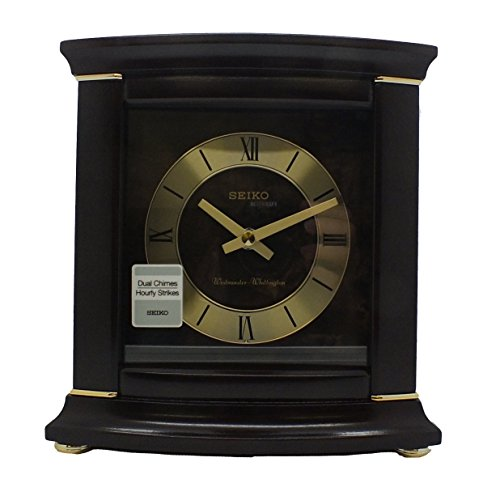 Seiko QXJ030BLH Japanese Quartz Shelf Clock