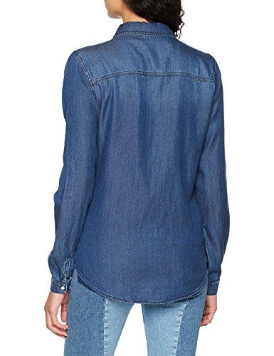 Denim Femme Bleu Dark Vila Denim Chemise Noos Shirt clean Wash Vibista Blue wz1AF7qH