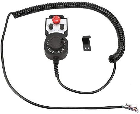 4軸ハンドルパルスジェネレーター、5 Vワイヤレス電子ハンドホイール4軸手動コントローラーハンドルパルスジェネレーターCNC緊急停止機能と有効化機能