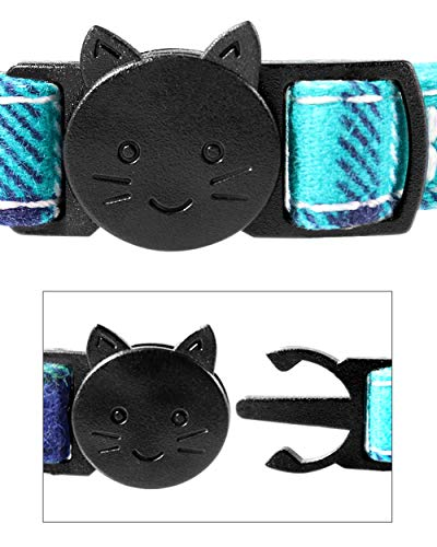 Black TagME Personalised Quick Release Cat Collar with Cute Bow Tie /& Bell Stainless Steel Slide-on Pet ID Tag Engraved with Name /& Phone Numbers