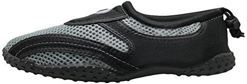 Greg Michaels Herren Wasserschuhe Aqua Socken - hohe Haltbarkeit, angenehm in Wasser und an der Oberfläche zu tragen Schwarzgrau
