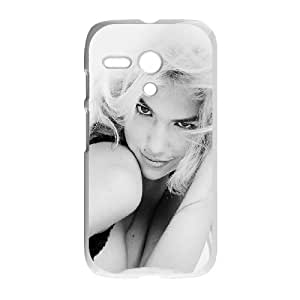 Motorola G Cell Phone Case White_Kate Upton Smile Sexy Face Girl Ehvre