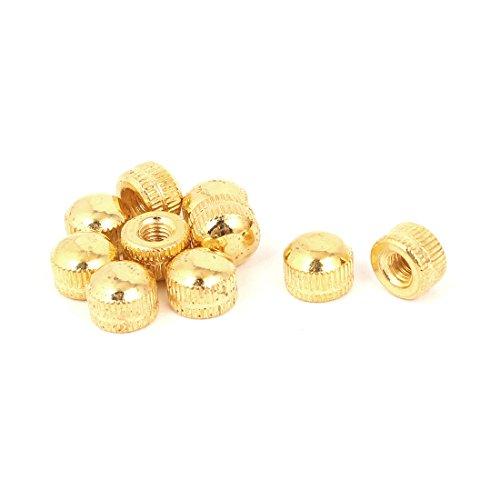 uxcell M5 Female Thread Cap Acorn Nut Lamps Lighting Fittings Gold Tone 10pcs