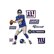 "NFL New York Giants Eli Manning Fathead 16"" x 10"""